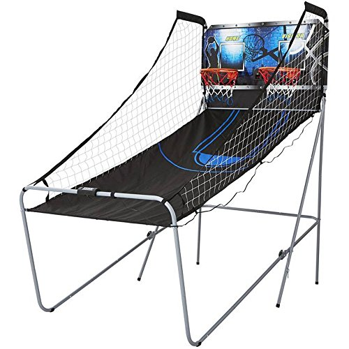MD Sports 2-Player Arcade Basketball Game with 8 Game Options, Fold-Up
