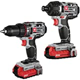 Porter-Cable PCCK602L2R 20V MAX Cordless Lithium-Ion 2-Tool Combo Kit (Certified Refurbished)