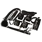 SYTY 10 Piece Under Bed Restraint Set Love Cuffs, Black, 24 Ounce