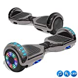 CHO Electric Smart Self Balancing Scooter Hoverboard Built-in LED Wheels Side Lights- UL2272 Certified (Rainbow Style 5 - No Bluetooth)