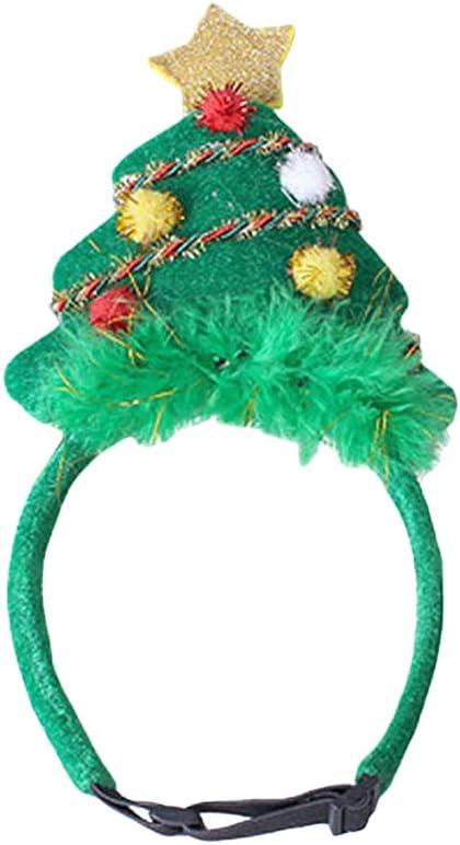 ZZM Diadema con Forma de árbol de Navidad para Mascotas, Tocado ...