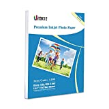 Glossy Photo Paper 8.5x11-100Sheets Uinkit Inkjet Paper 8.5Mil 180Gsm for Inkjet Printer