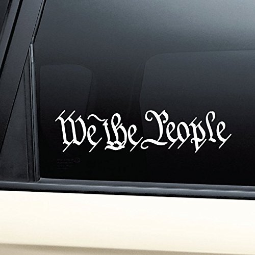 (We the People United States Constitution Vinyl Decal Laptop Car Truck Bumper Window Sticker)