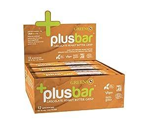 Greens Plusbar Chocolate mantequilla de cacahuete crujiente no ...