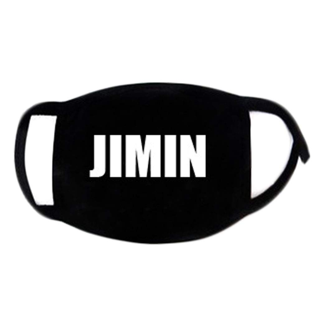 8 Cm Muffle Respirator Fans Supportive Brilcon Teens Unisex Kpop BTS Member Name Signature Cotton Face Mouth Mask Classic Black White 18 Business, Industry & Science Masks & Respirators