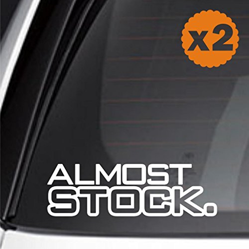 Infinity-270 (2X) Almost Stock OEM Slow Faster Drag Turbo Camaro nos JDM Sticker Decal Euro Mustang Drift vezel (Jdm Euro Stickers Decal)