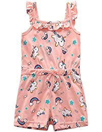 66c106da1f91 Baby Toddler Girls Unicorn Rainbow Romper Summer Playsuit 18M-7Y