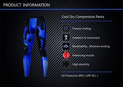 NATURET Compression Pants Baselayer Running Yoga Mens Sports Cool Dry Shaper Gym Workout Leggings Athletic