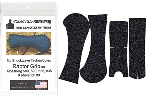 rubber grip tape overlay fits Shockwave Raptor Grip for Mossberg 500, 590, Maverick 88