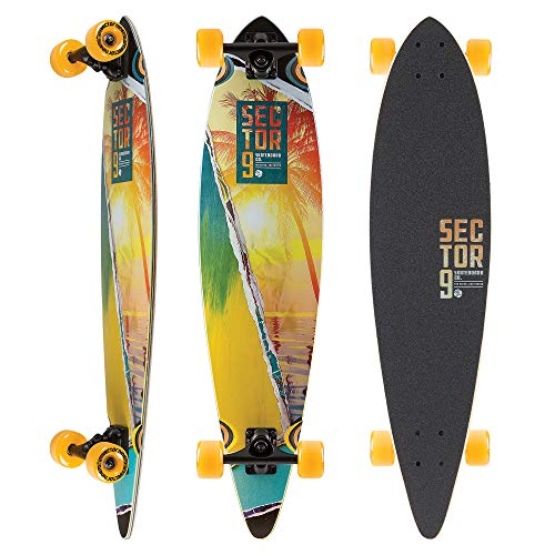 Sector 9 Offshore Complete 40 Inch Bamboo Top Mount Longboard for Carving and Commuting