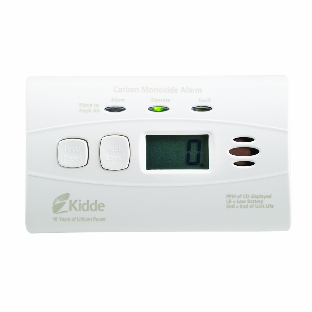 Kidde Sealed Lithium Battery Power Carbon Monoxide Alarm with Digital Display C3010D