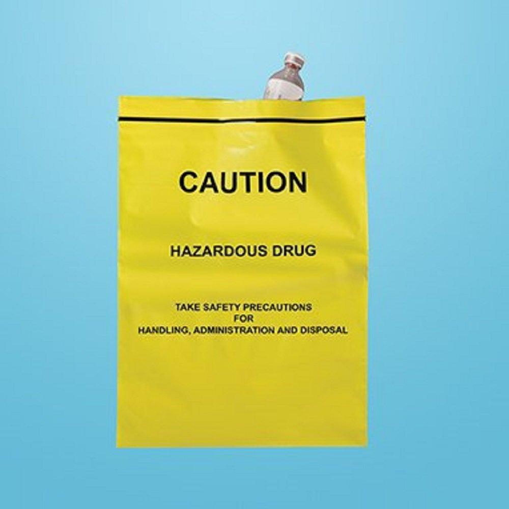 Devine Medical Caution Hazardous Drug Bags, 9 x 12