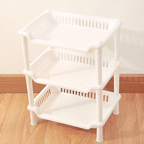 - TEERFU Corner Shelf Organizer -Free Standing 3 Tier Corner Shower Shelf - Plastic Construction-Kitchen Shelf,Bathroom Organizer