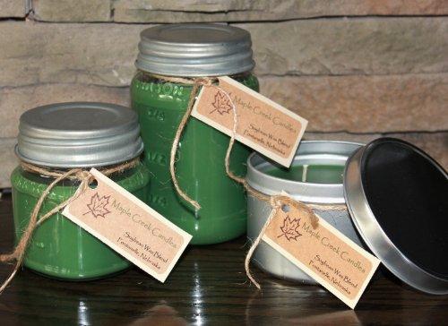 Maple Creek Candles 18th HOLE ~ Fresh Cut Grass ~ Soy Wax Blend 8oz jar candle