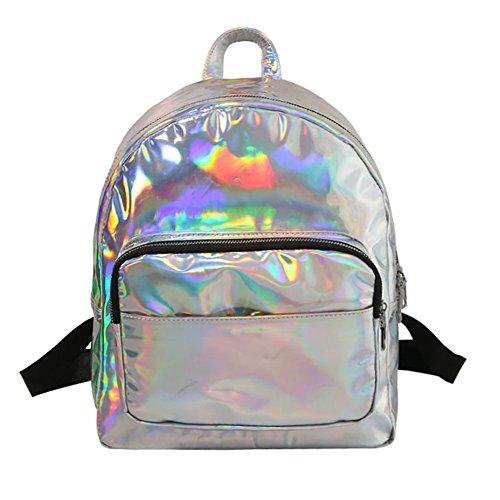 Windwelle - Bolso mochila para mujer plateado Silver-Size L Silver-Size L