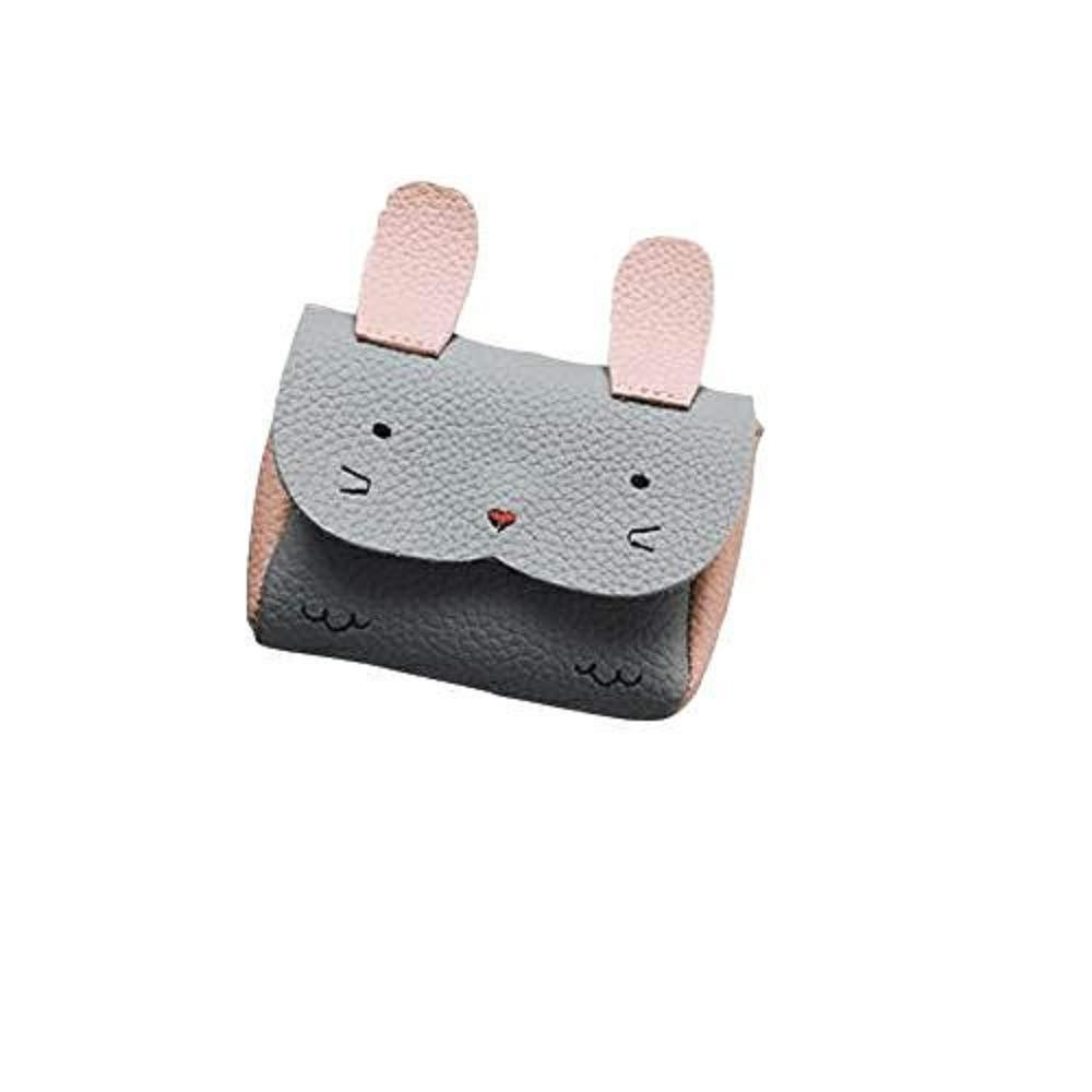 Children Grils Cute Ribbti Leather Handbag Cover Lock Shoulder Bag Mini Crossbody Bag (Gray)