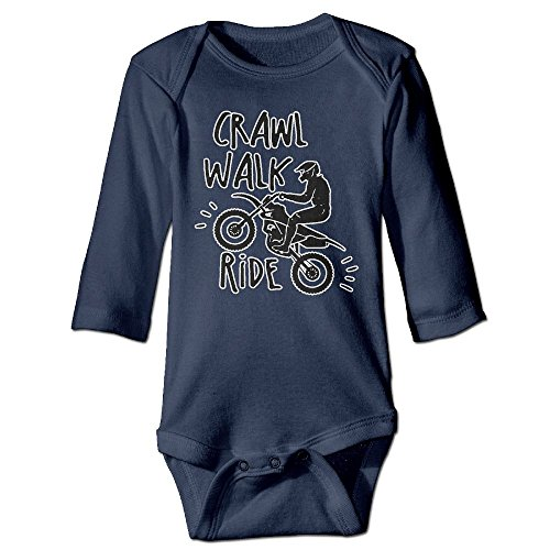 Funny Motorcycle Off-road Race Unisex Baby 100% Cotton Long Sleeve Romper Clothes Outfits ()