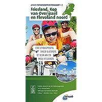 Knotenpunktkarte 02 Friesland, Kop van 1:100 000 (ANWB fietskaart (2))
