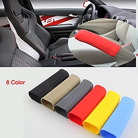Universal Car Auto Anti Slip Soft Silicone E-Brake Handle Sleeve Cover Hand Parking Brake Cover Boot E-Brake Grip Sleeve Protector