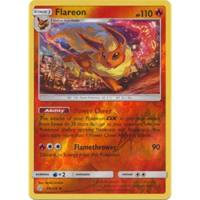 Flareon - 25/236 - Uncommon - Reverse Holo - Cosmic Eclipse: Toys & Games