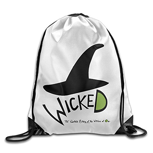 Bekey Wicked Musical Training Gymsack For Men & Women For Home Travel Storage Use Gym Traveling Shopping Sport Yoga (Wicked Witch Of The West Socks)