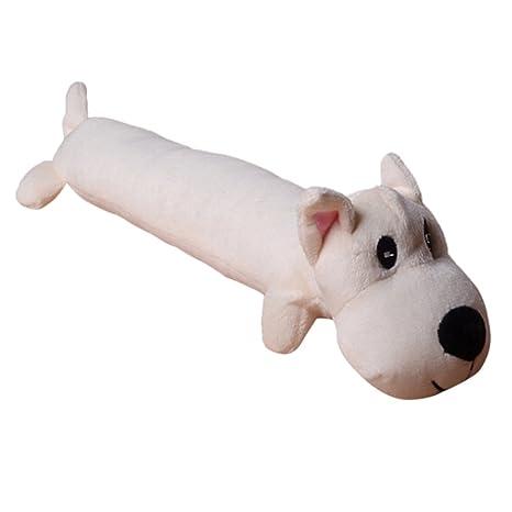 Legendog Juguete para Mascotas, Squeaker Toy Long Body Puppy Shape Pet Bite Toy Pet Sound