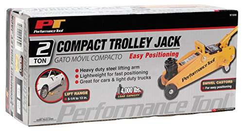 Performance Tool W1606 2 Ton (4,000 lbs.) Capacity Compact Trolley Jack by Performance Tool (Image #2)