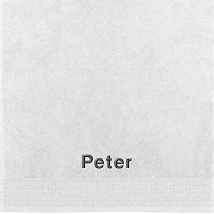 Erwin Müller Toalla con nombres Peter bordado, weiß, 50 x 100 cm