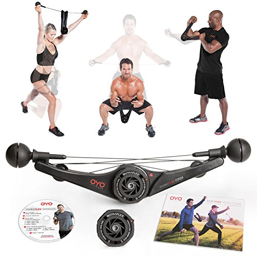 OYO Personal Gym DoubleFlex Black 15, Strength and Resistance Trainer for Total Body Exercise Workout: Arms, Chest, Back, Core, Abs