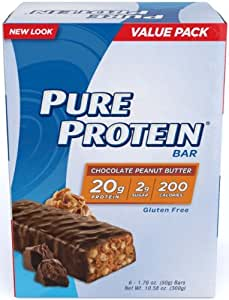 Pure Protein Chocolate Peanut Butter Value Pack Bars, 6 bars, (50g bars) (6 Pack (36 Bars))