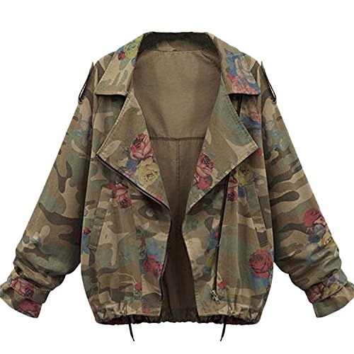 Inverno Moda Militare Minetom Autunno Donne Verde Giacca Di Giacche Giacche Camouflage Cappotti Coats Denim Jeans HTvwEnvqY