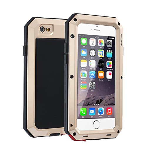buy online 30b2a e0b4b iPhone 8 Plus 7 Plus Case, LIGHTDESIRE [Newest] Aluminum Protective Metal  Extreme Water Resistant Shockproof Military Bumper Heavy Duty Cover Shell  ...