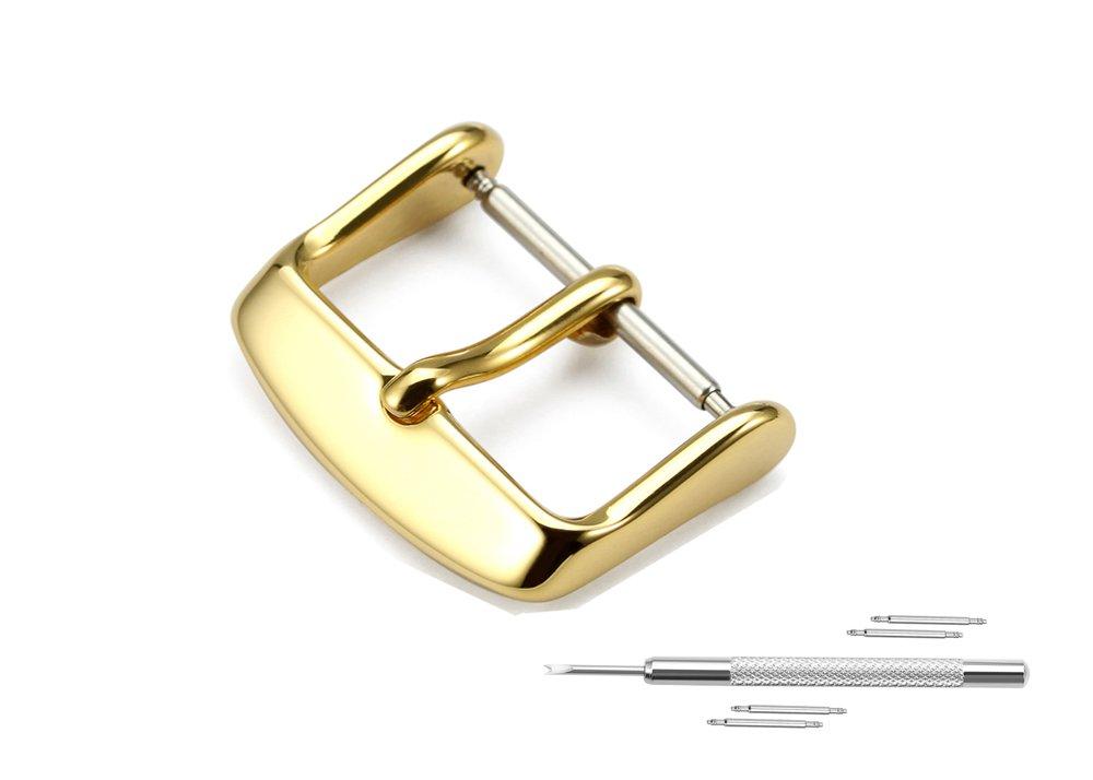 交換用腕時計バックル 16/18/20/22mm ステンレススチール 色と幅をお選びいただけます 16 ゴールド 16|golden tone golden tone 16 B071ZQDSR7