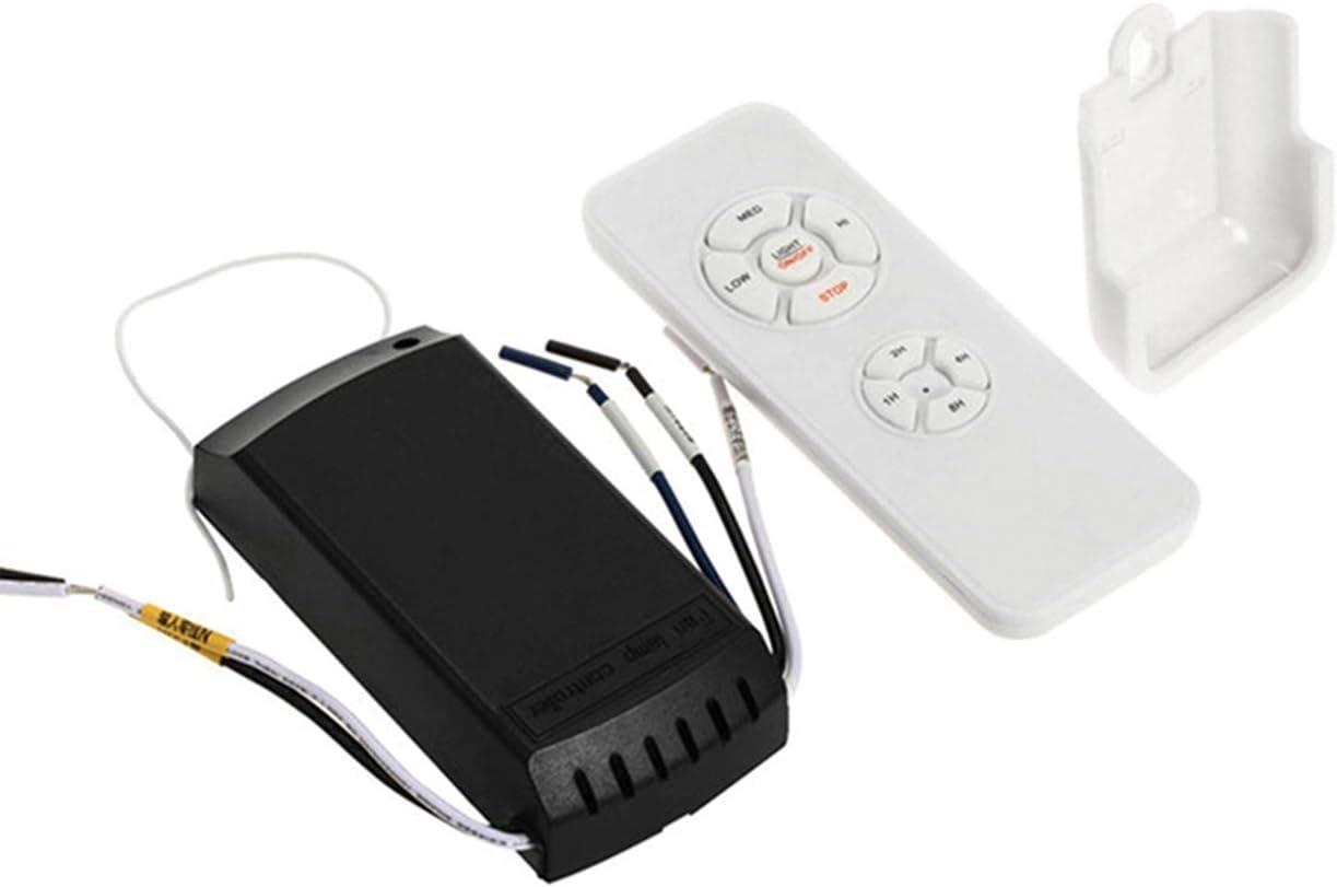 INHEMI - Kit de mando a distancia para ventilador de techo y control remoto inalámbrico de temporización para el hogar, oficina, hotel, restaurante, sala de exhibición