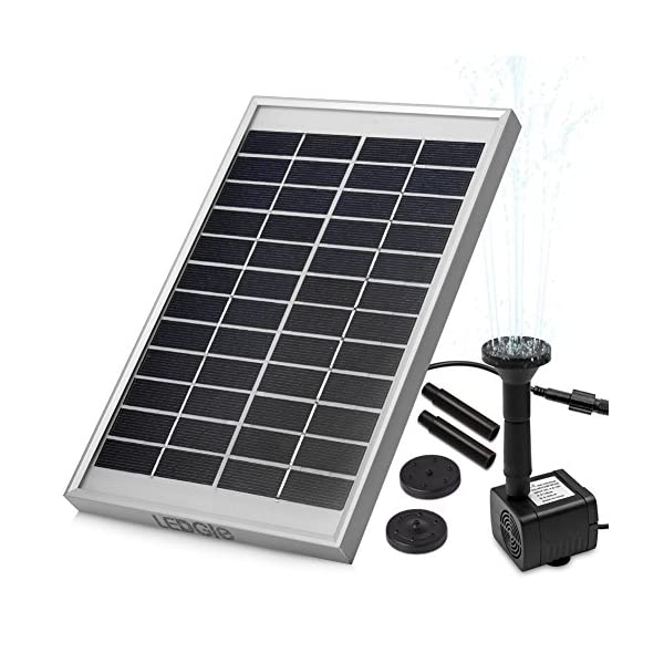51wQLdjvvdL. SS600  - LEDGLE 5W Solar Fountain Pump Garden Water Pump for Courtyard, Maximum Flow 380L/h