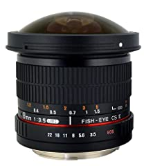 This is Rokinon's newest fisheye lens for Canon. It features some great new features that are not available on Rokinon's first highly rated 8mm f/3.5 fisheye lens. Optics and glass are high definition (HD) with very clear & sharp images. ...