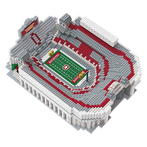 (FOCO NCAA Ohio State Buckeyes 3D Brxlz Stadium Building Block Set3D Brxlz Stadium Building Block Set, Team Color, One Size )