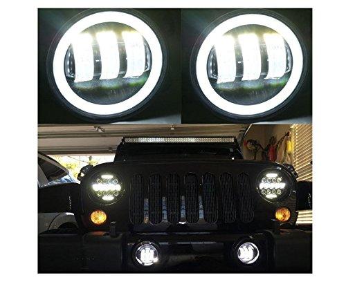7inch LED Phares avec blanc DRL Turn Signal 4 pouces LED Fog Lights