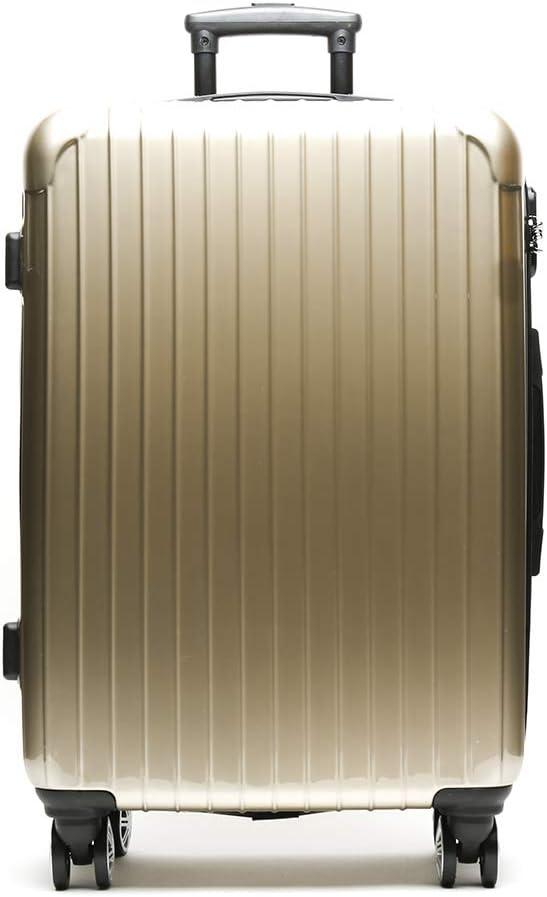 Misako – Maleta de Viaje Roma Mediana 24 X 45 X 68CM - 73L - 3,5KG en Color Oro | 4 Ruedas Giratorias Dobles | Maleta Rígida