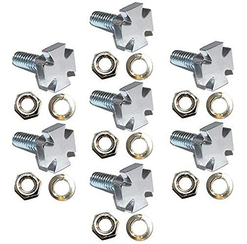 7 Show Chrome - Maltese Iron Cross - Billet Aluminum Bolts for Motorcycle, Motorbike, Bike, Motor Cycle Windshield The Best Accessories for Cars and Motorcycles by Billion_Store