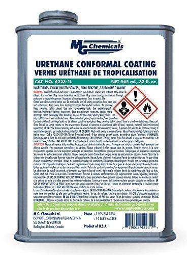 MG Chemicals 4223 Urethane Conformal Coating, 1 Quart Can Size: 1 Quart, Model: 4223-1L, Hardware Store Review