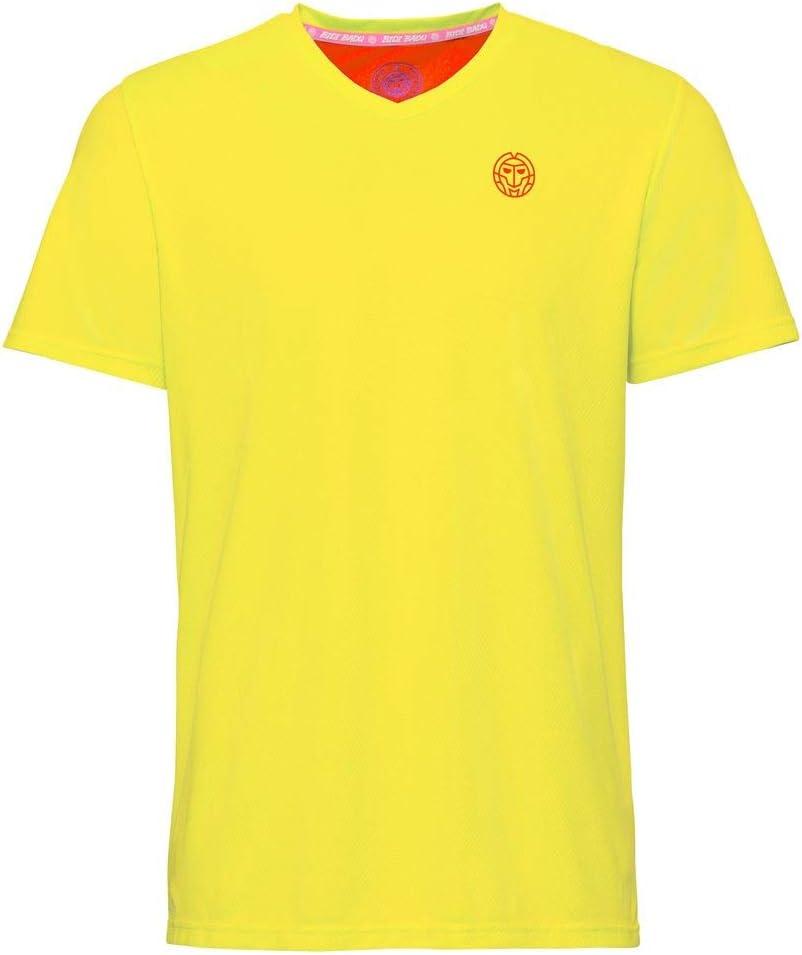 FA19 BIDI BADU Ted Tech Tee neon Yellow//red