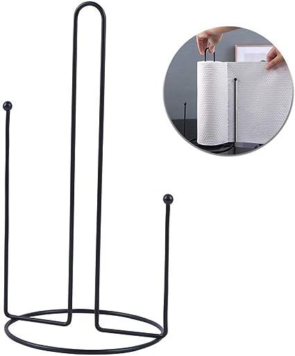multifunzione portarotolo da cucina per piano di lavoro o rotolo da cucina utilizzabile con una sola mano Womdee verticale in ferro in plastica