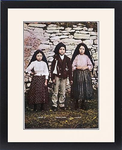 Framed Print Of 3 Fatima Visionaries by Prints Prints Prints