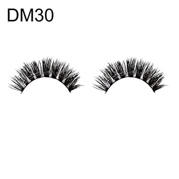 49836fc1074 Amazon.com : Fake Eyelashes gLoaSublim - 1Pair Faux animal Eyelashes  Natural Long 3D Handmade Thick False Lashes Extension - 30# : Beauty