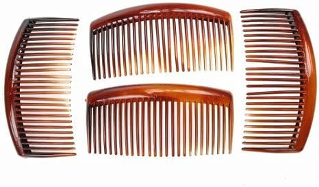 Pack of 2 Large Tort Brown Plastic Hair Combs Slides 12cm Long