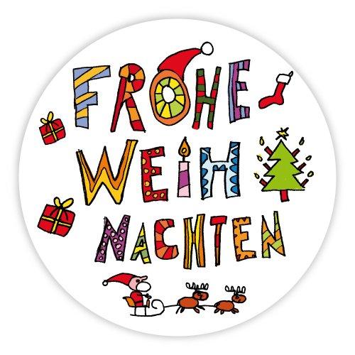 Frohe Weihnachten Aufkleber.Weihnachtsaufkleber Weihnachtssticker Frohe Weihnachten ø 30 Mm 100 Stück Haftpapier