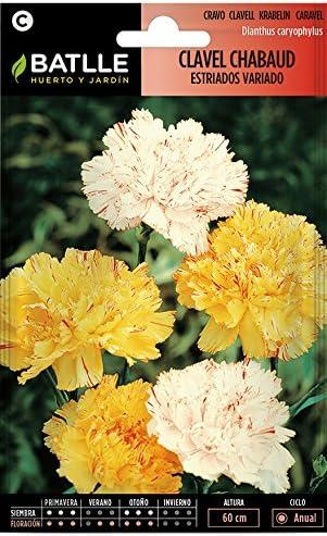 Batlle Clavel Chabaud Doble estriado variado Semillas de Flores