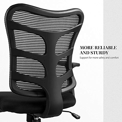 Ergonomic Office Chair Lumbar Support Mesh Chair Computer Desk Task Chair with Armrests by Smugdesk (Image #2)