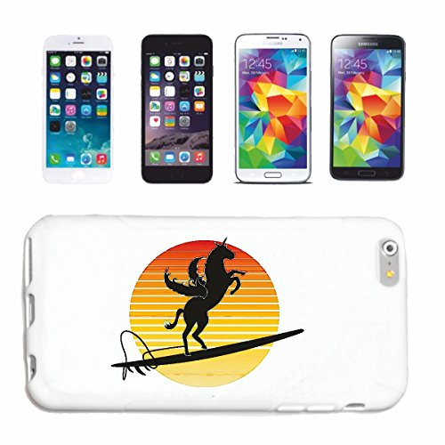 "cas de téléphone iPhone 7 ""PEGASUS SURF SUR UNE PLANCHE DE SURF SUNSET HORSE UNICORN"" Hard Case Cover Téléphone Covers Smart Cover pour Apple iPhone en blanc"